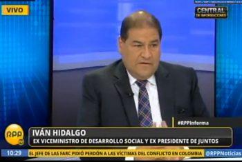 Entrevista a Iván Hidalgo, exviceministro de Desarrollo e Inclusión Social (RPP TV)